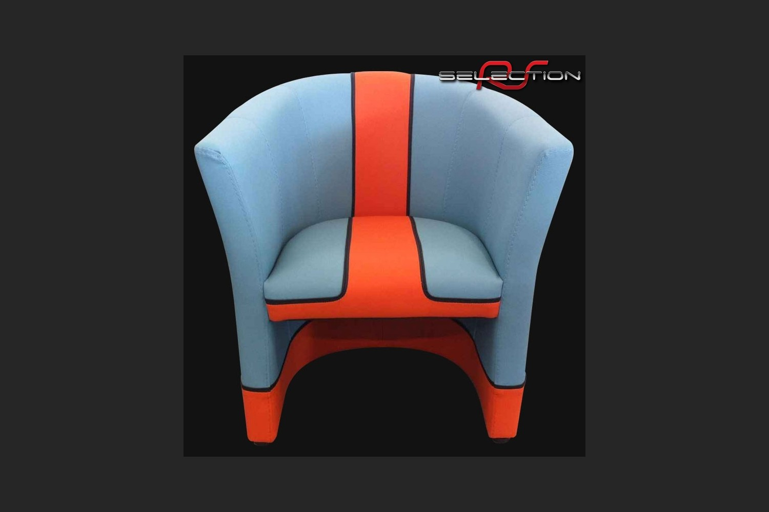 fauteuil cabriolet racing inside n 20 bleu racing team orange selection rs mini 911 3. Black Bedroom Furniture Sets. Home Design Ideas